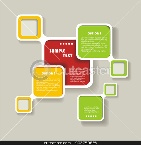 Retro Style Website Template, Vector design frame. stock vector