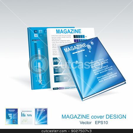 Vector blue brochure design set  stock vector clipart, Vector blue brochure design set  by Elena