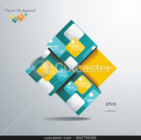 Abstract Square Background  stock vector clipart, Abstract Square Background  by Elena