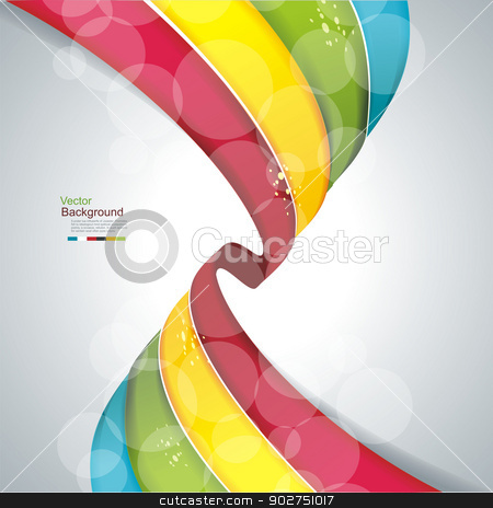 eps10 vector abstract colorful wave background  stock vector clipart, eps10 vector abstract colorful wave background  by Elena