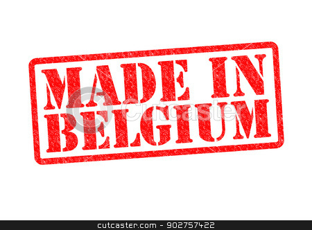 MADE IN BELGIUM stock photo, MADE IN BELGIUM Rubber Stamp over a white background. by Chris Dorney