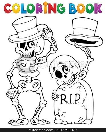 Coloring book Halloween character 6 stock vector clipart, Coloring book Halloween character 6 - eps10 vector illustration. by Klara Viskova