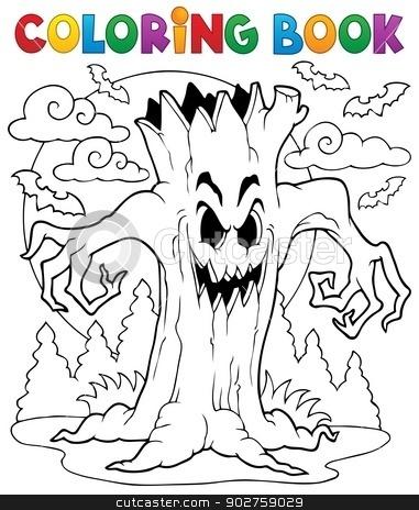 Coloring book Halloween character 7 stock vector clipart, Coloring book Halloween character 7 - eps10 vector illustration. by Klara Viskova