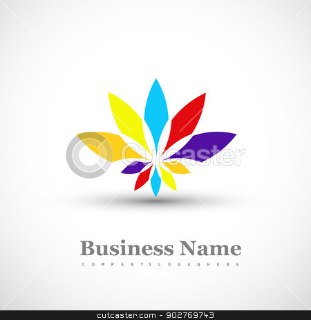 Business icon multicolor colorful floral element white backgroun stock vector clipart, Business icon multicolor colorful floral element white background  illustration by bharat pandey