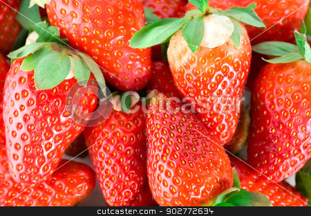 Mouthwatering strawberries stock photo, A selection of fresh red mouthwatering strawberries by Givaga