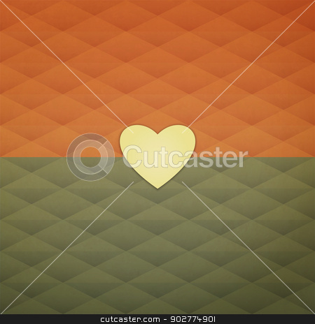 trendy heart stock vector clipart, new abstract background with single heart sticker can use like minimalistic design symbol by metrue