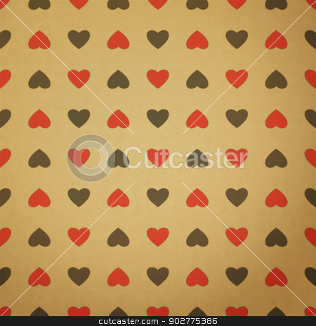 seam milan stock vector clipart, new seamless pattern with heart symbol on paper texture can use like wallpaper by metrue
