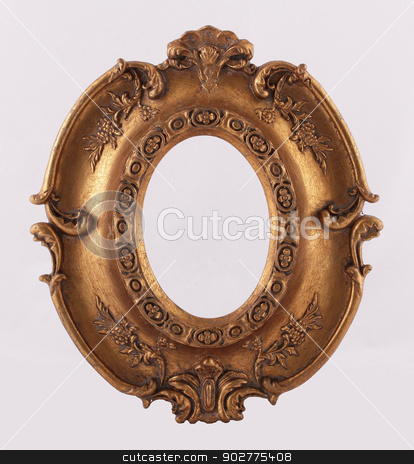 Frame stock photo, The carved gold frame for pictures or photos by vladnad