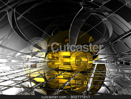 seo tag stock photo, seo tag in abstract futuristic space - 3d illustration by J?