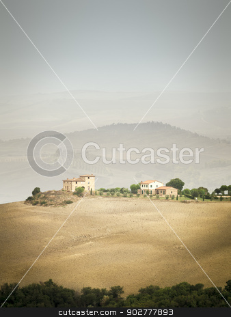 Tuscany Landscape stock photo, An image of a typical Tuscany landscape with a house by Markus Gann