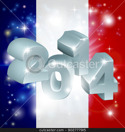2014 french flag stock vector clipart, Flag of France 2014 background. New Year or similar concept by Christos Georghiou