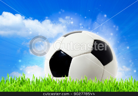 abstract football backgrounds with beauty bokeh stock photo, abstract football backgrounds with beauty bokeh by tolokonov