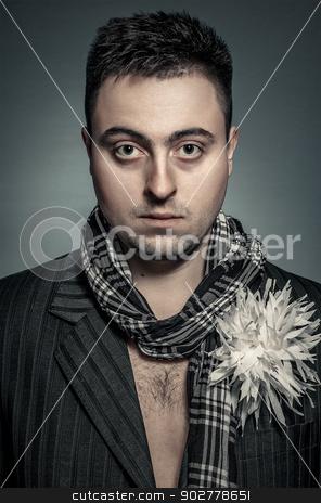 portrait stock photo, Portrait of a stylish man in the photo studio by Artem Zolotaryov