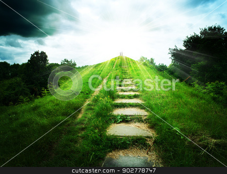 Stairs to heaven. Abstract natural backgrounds stock photo, Stairs to heaven. Abstract natural backgrounds by tolokonov