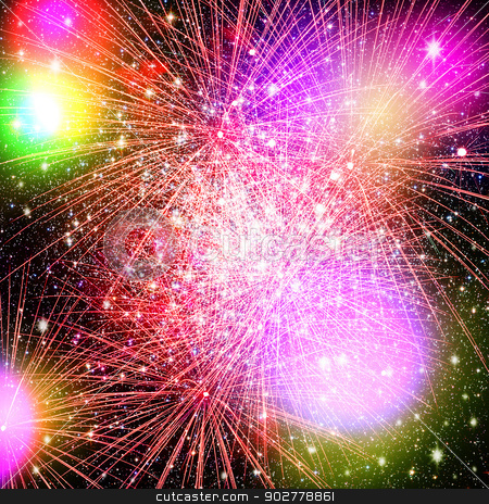 Fireworks. Abstract holidays backgrounds stock photo, Fireworks. Abstract holidays backgrounds by tolokonov