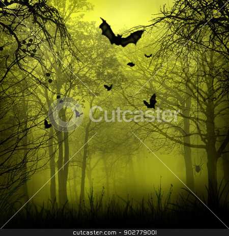 Abstract Halloween backgrounds with copy space for your design stock photo, Abstract Halloween backgrounds with copy space for your design by tolokonov
