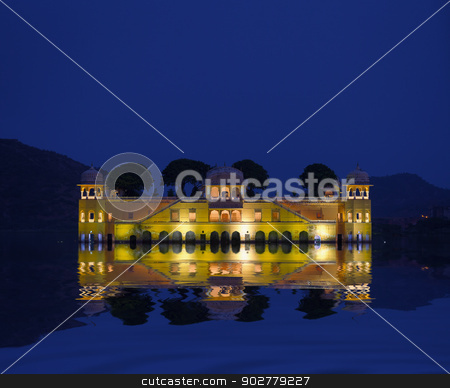 Water Palace - Jal Mahal Rajasthan, Jaipur, India stock photo, The Water Palace - Jal Mahal Rajasthan, Jaipur, India by Alexey Romanov