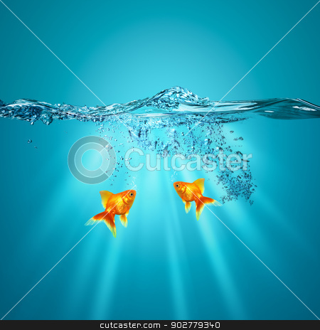 Funny underwater backgrounds for your design stock photo, Funny underwater backgrounds for your design by tolokonov