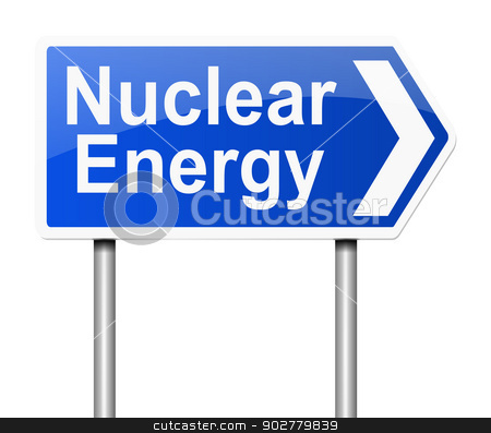 Nuclear Energy concept. stock photo, Illustration depicting a sign with a nuclear energy concept. by Samantha Craddock