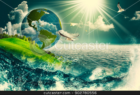 Abstract eco and environmental backgrounds for your design stock photo, Abstract eco and environmental backgrounds for your design by tolokonov