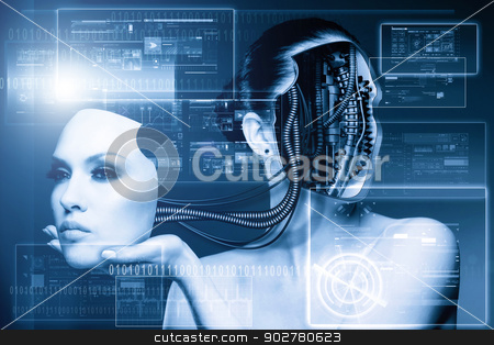 CyberFashion. Abstract techno backgrounds stock photo, CyberFashion. Abstract techno backgrounds by tolokonov