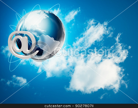 Global internet and communications backgrounds stock photo, Global internet and communications backgrounds by tolokonov