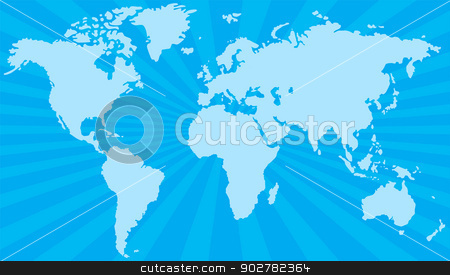 Stylized world map stock vector clipart, Stylized world map with lines in the background by Volina