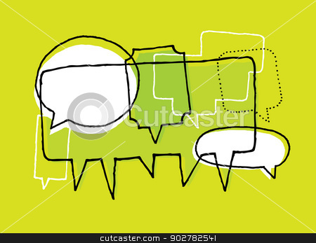Opinions, discussion and brainstorm stock vector clipart, Opinions, discussion and brainstorm by Curvabezier