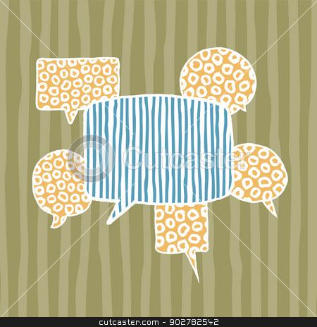 Vector handwritten speech bubbles / Creative thinking stock vector clipart, Vector handwritten speech bubbles / Creative thinking by Curvabezier