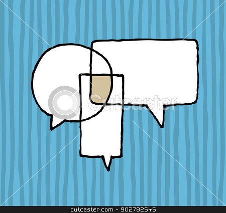 Dialog agreement / Negotiation Speech Balloons stock vector clipart, Dialog agreement / Negotiation Speech Balloons by Curvabezier