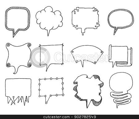 Set of vector speech bubbles stock vector clipart, Set of vector speech bubbles by Curvabezier
