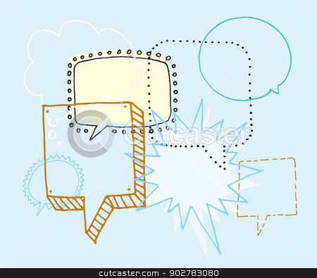 Brainstorm / Discussion or Chat and Speech bubbles stock vector clipart, Brainstorm / Discussion or Chat and Speech bubbles by Curvabezier