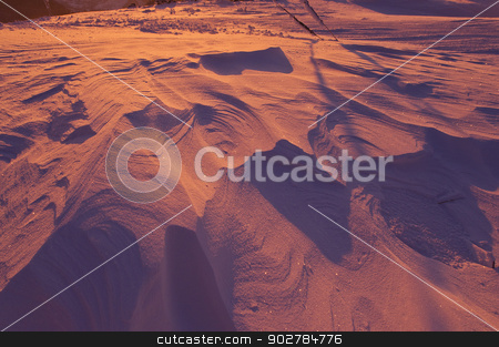 snow background  stock photo, windy snow at sunset background abstract by Ioan Panaite