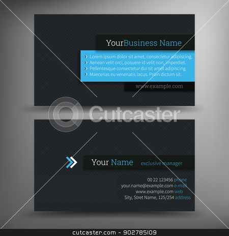 Business Card Set stock vector