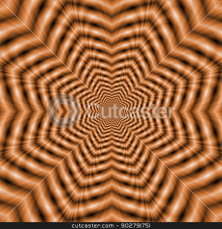Orange Stars in Stars stock photo, Digital absrtract fractal image with a receding star design in orange. by Colin Forrest