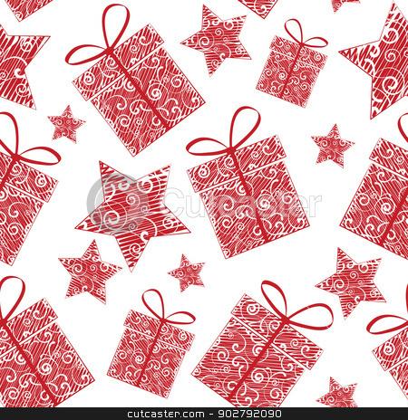 seamless pattern stock vector clipart, Christmas seamless patterns of Christmas decorations by Miroslava Hlavacova