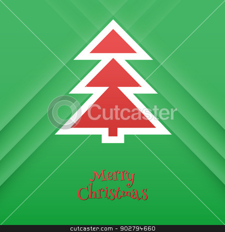 Abstract xmas tree stock vector clipart, Vector illustration of Abstract xmas tree by SonneOn