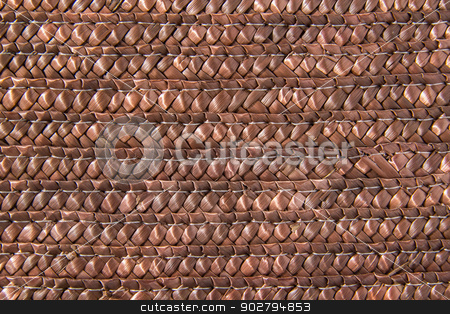 Straw basket texture stock photo, Straw basket detailed texture close up by Pedro Campos