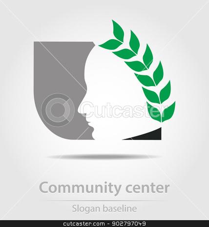 Original community center business icon stock vector clipart, Original community center business icon by Maria Repkova