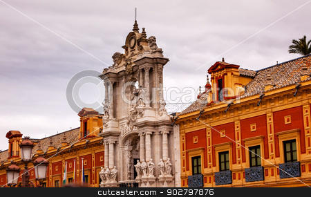 Palace of San Telmo Andalusian President Office Seville Spain stock photo, Palace of San Telmo Andalusian President Office Seville Andalusia Spain.  Built in 1682.  by William Perry