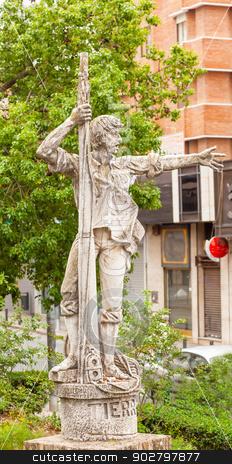 Rodrigo de Triana Columbus Seaman Statue Triana Seville Andalusi stock photo, Land Ho Rodgrigo de Triana Statue Seville Andalusia Spain. Columbus Seaman first to see America, born in Triana. Sculptor J. Lemus 1973 by William Perry