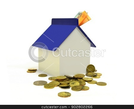 House and Coins Property Investment Concept stock photo, House and Coins Property Investment Concept by Mohamad Razi Bin Husin