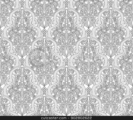 Vintage Art Nouveau Pattern stock vector clipart, Illustration of an intricate seamlessly tilable repeating Art Nouveau motif vintage pattern by Christos Georghiou