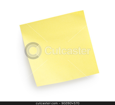 Yellow paper stock photo, Yellow paper isolated on a white background by Givaga