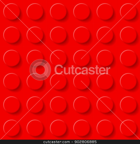 Plastic construction kit background. stock photo, Abstract plastic construction kit background in red. by dvarg