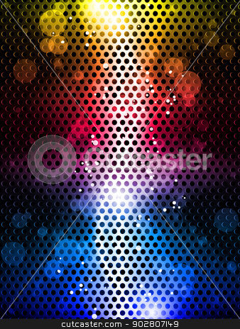 Colorful Rainbow Neon Party Background stock vector clipart, Vector - Colorful Rainbow Neon Party Background by Augusto Cabral Graphiste Rennes