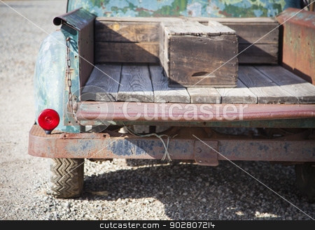 Old Rusty Antique Truck Abstract in a Rustic Outdoor Setting stock photo, Abstract of Old Rusty Antique Truck Bed in a Rustic Outdoor Setting.  by Andy Dean