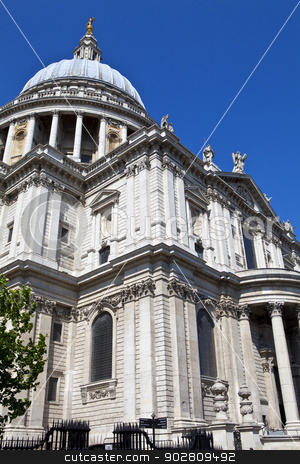 St. Pauls Cathedral in London stock photo, St. Pauls Cathedral in London, England. by Chris Dorney