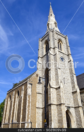 St. Michaels Church in Belgravia, London stock photo, The beautiful St. Michaels Church in Chester Square, London. by Chris Dorney