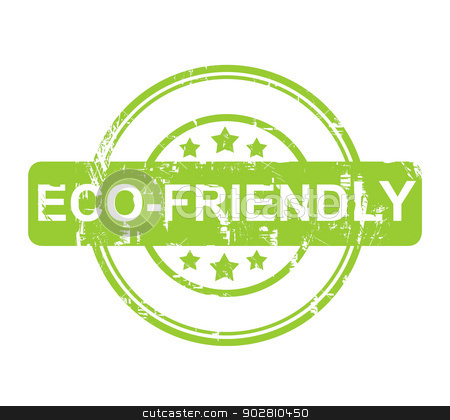 Eco Friendly green stamp with stars stock photo, Eco Friendly green stamp with stars isolated on a white background. by Martin Crowdy